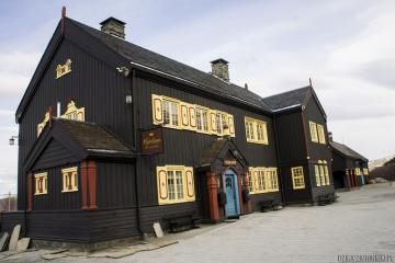 Railway station. - The building of the railway station in Hjerkinn, Norway.