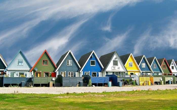 Finnországban - Finnországban. Színes házak (10×10)