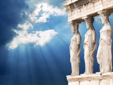 Greece Athens - Athens erehtejon and caryatids