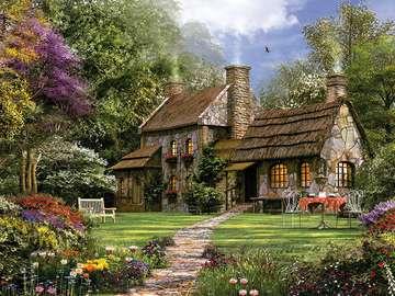 Propriété anglaise. - Une propriété anglaise avec un jardin.