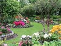 Sommarträdgård.
