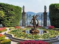 Olasz kert. - Olasz kert a Comói-tónál.