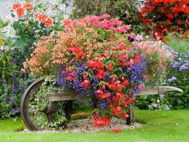 Trädgårdsdekorationer. pussel