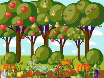 Regali della natura. - Regali di frutta e verdura della natura.