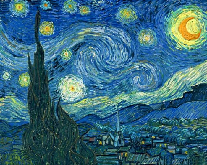 Hvězdná noc od Van Goga
