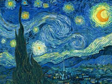 Starry Night by Van Gogh - The puzzle is of artistic taste: Van Gogh and one of his most famous paintings.