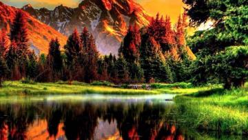 Autumn in the mountains. - A little reflection for Jola. Have fun.