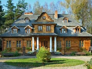 Manor of Zaścianek in Podlasie - Agritourism on the edge of the village of Borsuki near the border with Belarus.