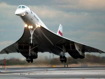Concorde-flygplan.