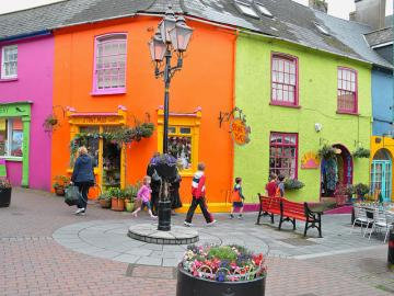 Kinsale in Ireland. - Colorful town of Kinsale.