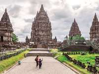 Prambanan. Java. - Temples on the island of Java. Temples in Java. Abandoned temples in Java.