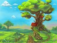 Domki na drzewie.