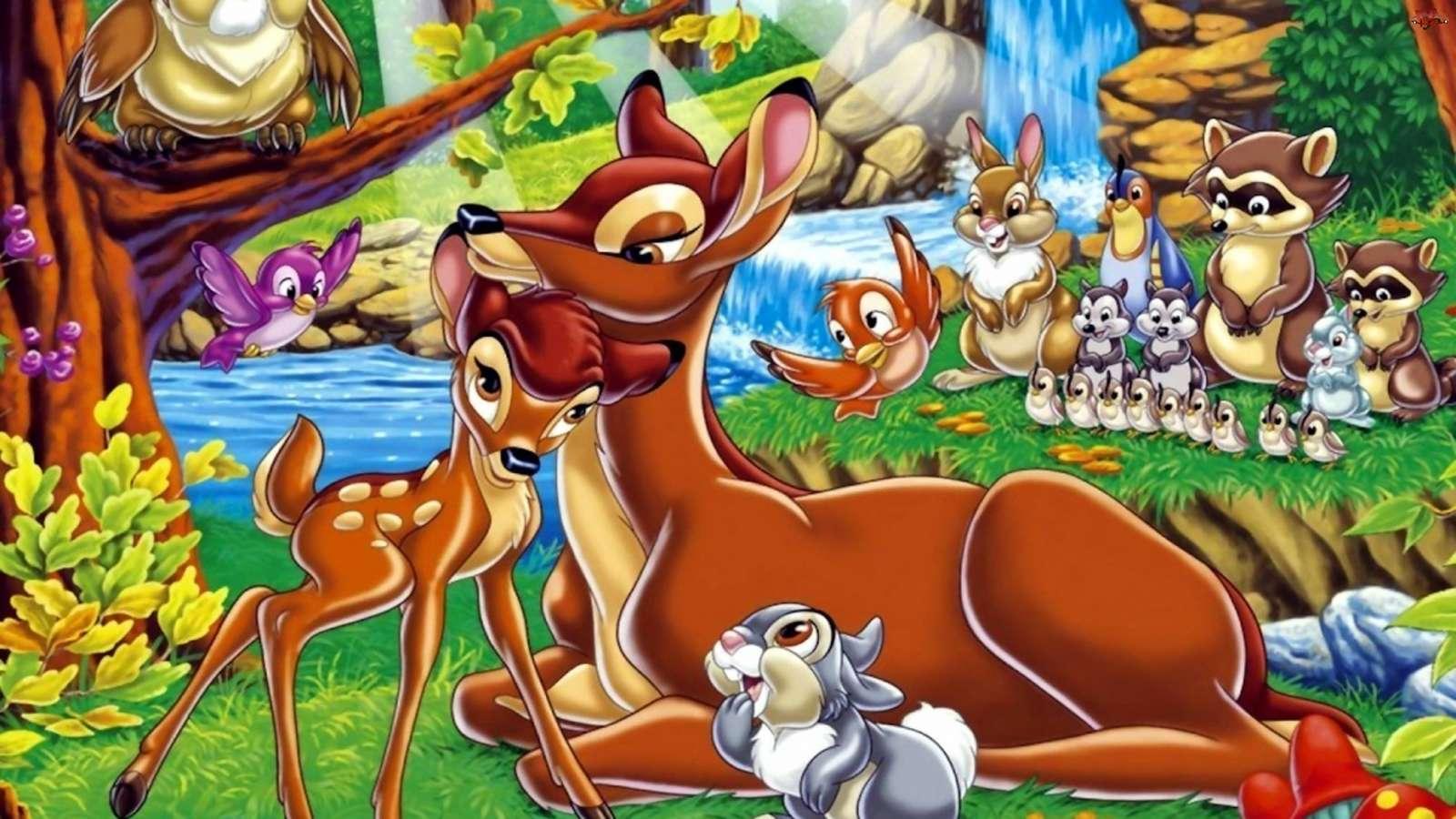 Un conte de fées sur Bambi, un jeu de réflexion puzzle