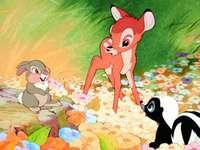 Conto de fadas de Bambi Disney, jogo de quebra-cabeça