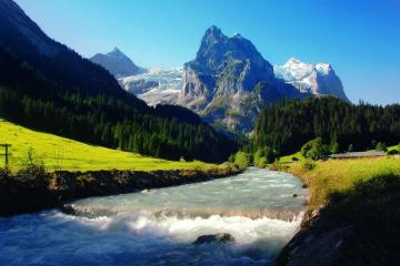 Mountain river. - A mountain river in Switzerland.