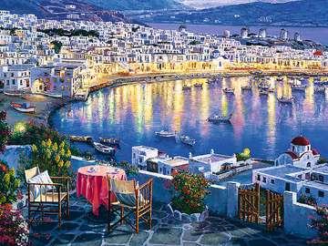 Grecka wyspa Mykonos - Mýkonos – grecka wyspa na Morzu Egejskim, należąca do archipelagu Cyklady, położona między w