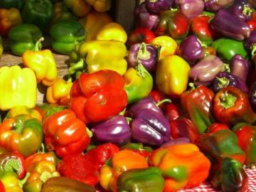 Colorful peppers.