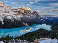 """Λίμνη Πέυτο - Η φωτογραφία προέρχεται από τον ιστότοπο """"Tapeciarnia"""""""