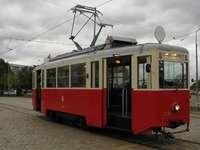 Λευκό και κόκκινο τραμ. - Ιστορικό λευκό και κόκκινο τραμ.