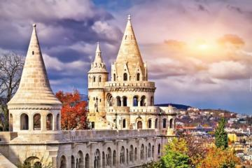Fishermen's Bastion - Fisherman's Bastion, Budapest, panorama
