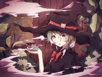 Hexen Mädchen - Dies ist ein Anime-Hexenmädchen.