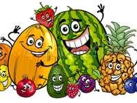 Smějící se ovoce. - Pro děti: smějící se ovoce.