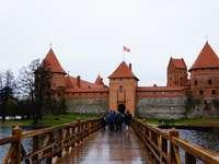 Litauen-Trakai. - Litauen. Trakai. Litauiska landskap. Trakai slott. Byggnader. Litauen. Trakai.