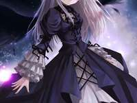 Anime Vampire Girl - This is a anime vampire girl with a very classic dress.