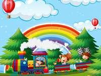 Bild mit einem Regenbogen.