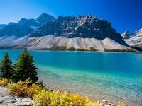 Alberta-tó Kanadában.