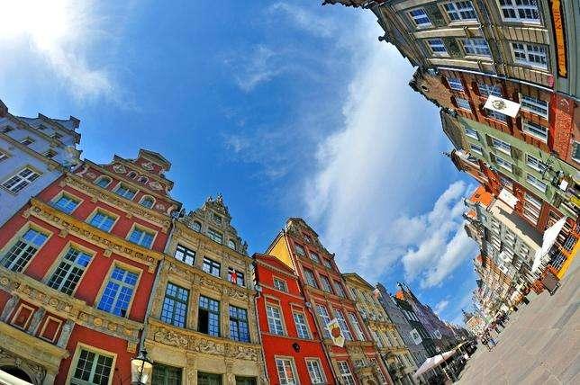 Nájemní domy v Gdaňsku.
