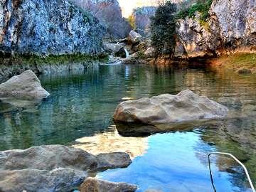 rzeka Cikole w Chorwacji - kanion rzeki Cikole w Chorwacji