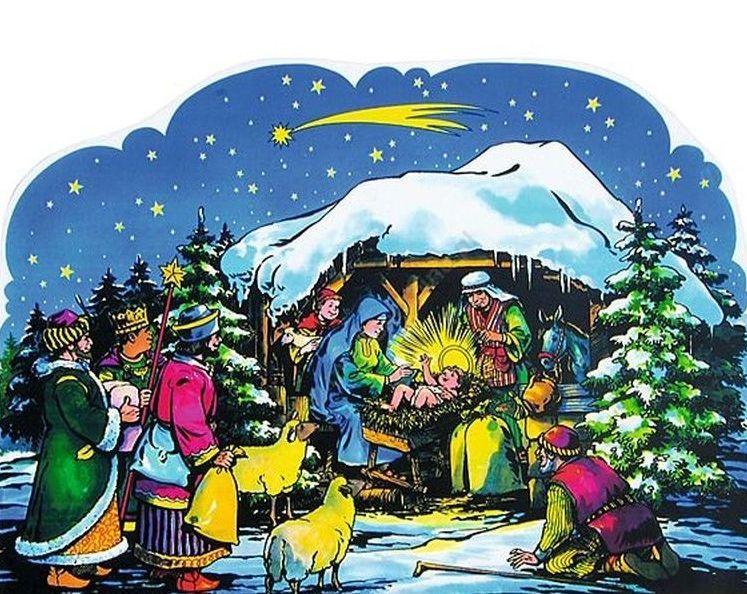 God is born - Christmas. Christmas (7×7)