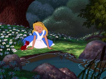 Alice in Wonderland - puzzles to make children of the third class
