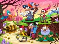 Puzzle colorato - Per i bambini: puzzle colorato.