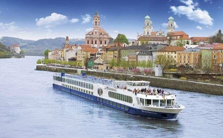 Donau in Passau. puzzel