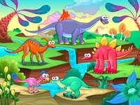 Dinosaurier. - Stora reptiler: dinosaurier.