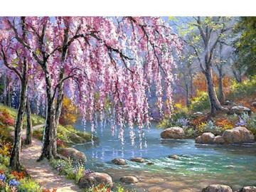 Bajkowe krajobrazy - Kolorowe bajkowe krajobrazy