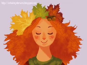Pani jesień - fajne puzzle pani jesieni szybko się układa, polecam na jesienne jak i zimowe wieczory,liście j