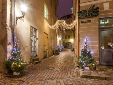 Festive Tallinn. - Tallinn Old Town in a Christmas version.