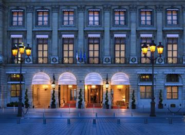 Paris-Hotel Ritz - Paris-Hotel Ritz en éclairage de nuit