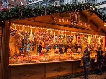A Christmas market. - Lunebrug. A Christmas market.