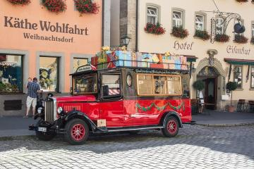 Rothenburg in Bavaria. - In this German town, I think they like Christmas very much.