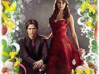 damon salvatore en elena gilber
