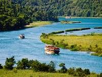 táj a Krka folyó