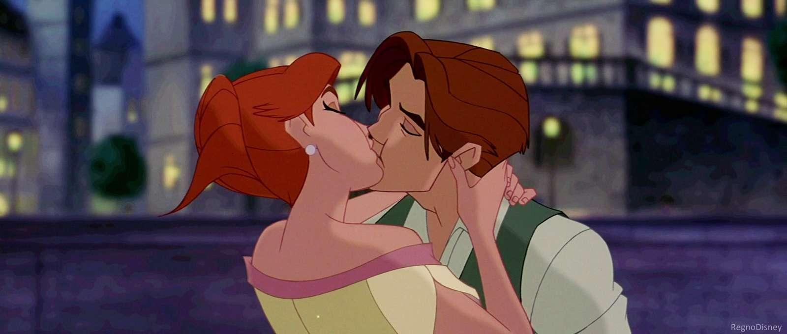 anastasia - anastasia and dimitri while they kiss at the end (12×9)
