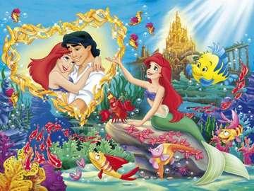 ariel la sirenita - la sirenita ariel mientras soñaba con el príncipe eric
