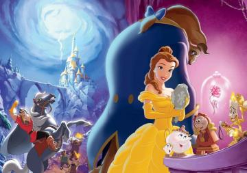 the beauty and the Beast - poster the beauty and the beast all together