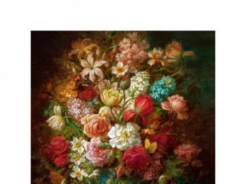 Flores de colores - Hans Zatzka - flores de colores.