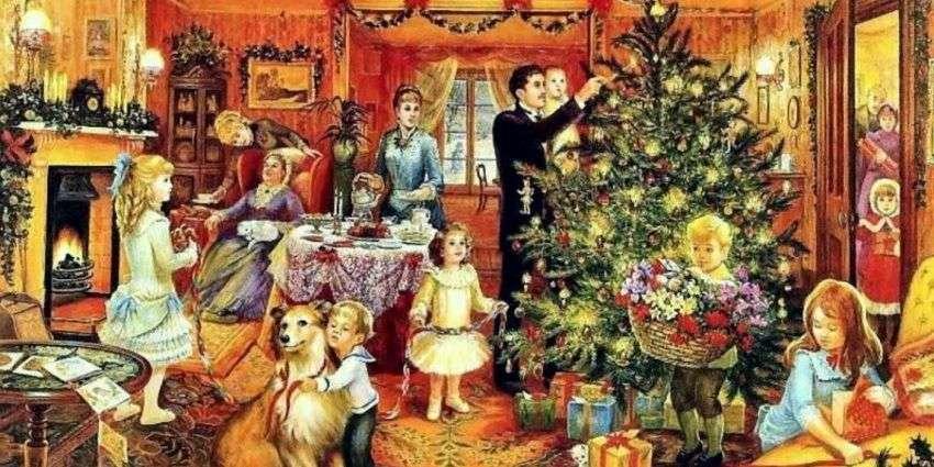 Ubieranie choinki. - Boże Narodzenie. Ubieranie choinki.